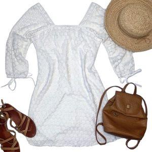SOLITAIRE Anthropologie Crochet Mini Dress, Size S